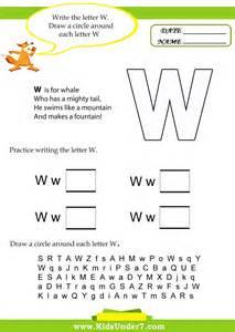 7 letter w worksheets
