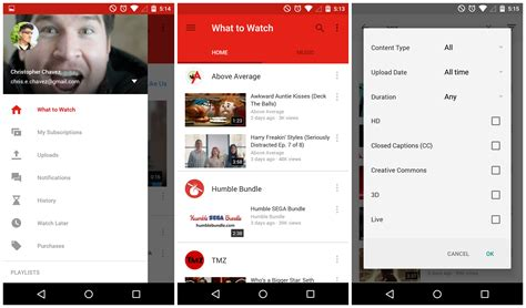youtube app layout youtube 6 0 se actualiza a material design en android