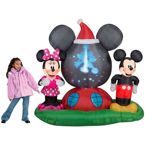 mickeyunlimited electric christmas decorations gemmy 6 5 ft h panoramic projection mickey
