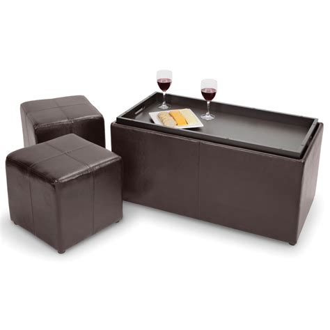 the hideaway seating coffee table hammacher schlemmer