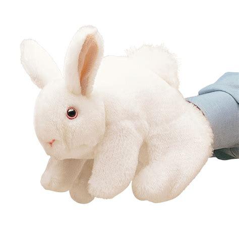 Bunny White white bunny rabbit puppet folkmanis