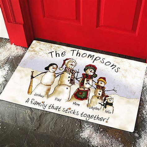 Personalized Family Doormats personalized snowmen stick family doormat walmart