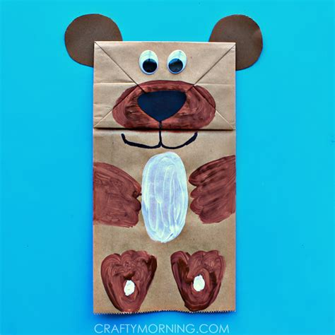 Paper Craft Bags - paper bag puppet can make crafty morning