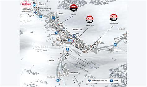 Val d'Isère Plan de la station Le plan de Val d'Isère