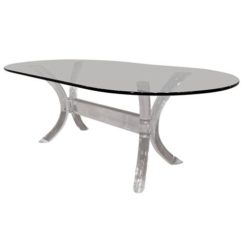 Lucite Dining Table Lucite Dining Table With Oval Glass Top By Charles Hollis Jones At 1stdibs