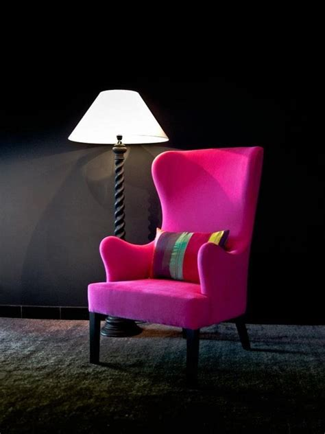 wingback chair the pink for the home