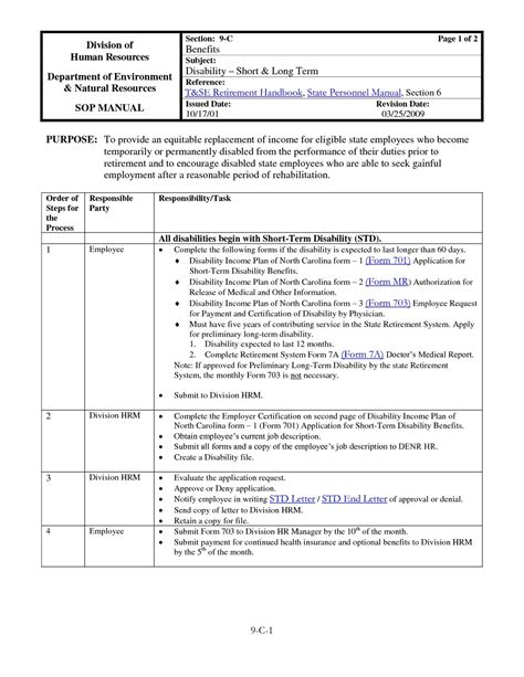 Warehouse Sop Template by Warehouse Standard Operating Procedures Template