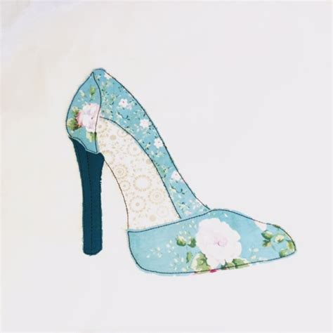 machine embroidery high heel shoe pattern 3 x patterns