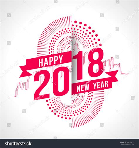 happy new year theme song vector illustration colorful fireworks happy new stock vector 564359155