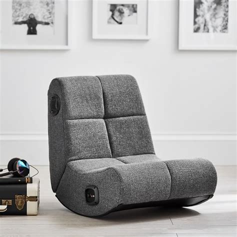mini rocker chair charcoal tweed mini rocker speaker chair pbteen