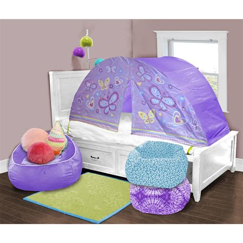 3 bedroom tent walmart kids scene lavender butterfly play bed tent walmartcom 3