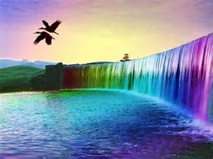 cool colorful pictures colorful rainbow waterfall wallpaper colorful