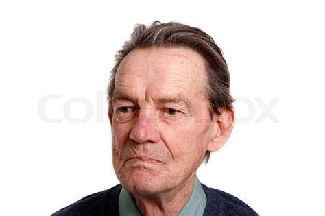 pics of white 36 year old men an old man looking at something on white background