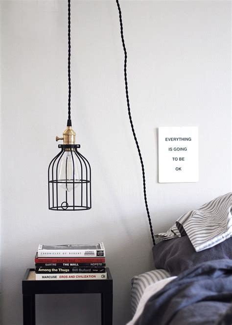 How To Hang A Pendant Light Diy Hanging Pendant Light From Color Cord Company