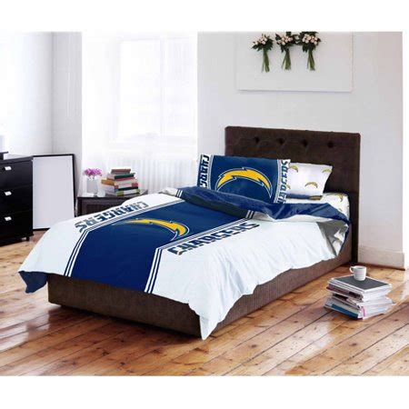 nfl los angeles chargers bed in a bag complete bedding set walmart