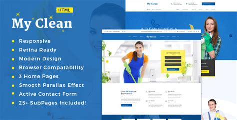 Cleaning Business Website Templates House Cleaning Templates From Themeforest Templates Cleaning Service Website Template