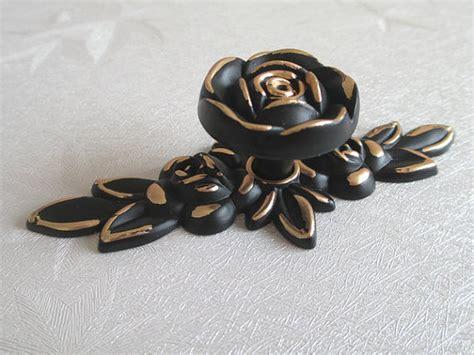 black and rose gold dresser shabby chic dresser drawer pulls knobs handles gold