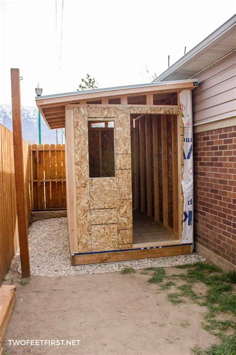 build  lean  roof   shed