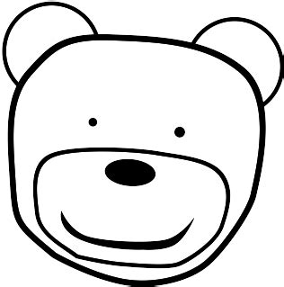 teddy bear head coloring page pirate head clipart black and white clipart panda free