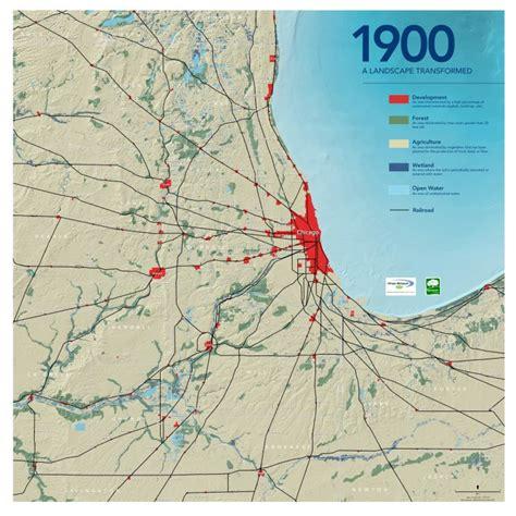 chicago map 1900 the burnham plan centennial bold plans big dreams