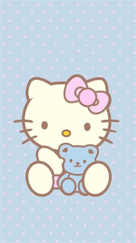hello kitty wallpaper color blue hello kitty polka dot wallpaper image 2336526 by lady d