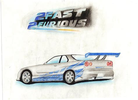 nissan skyline drawing 2 fast 2 furious 2 fast 2 furious by steelefox on deviantart