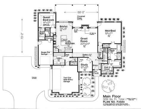 Fillmore House Plans F2584 Fillmore Chambers Design