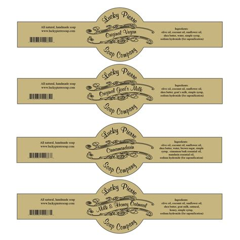 Free Printable Cigar Band Soap Label Template Soap Pinterest Label Templates And Free Soap Label Templates