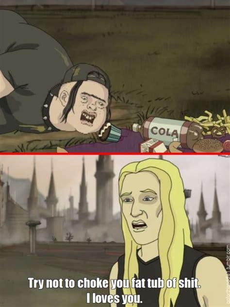 Metalocalypse Meme - metalocalypse chuckles pinterest