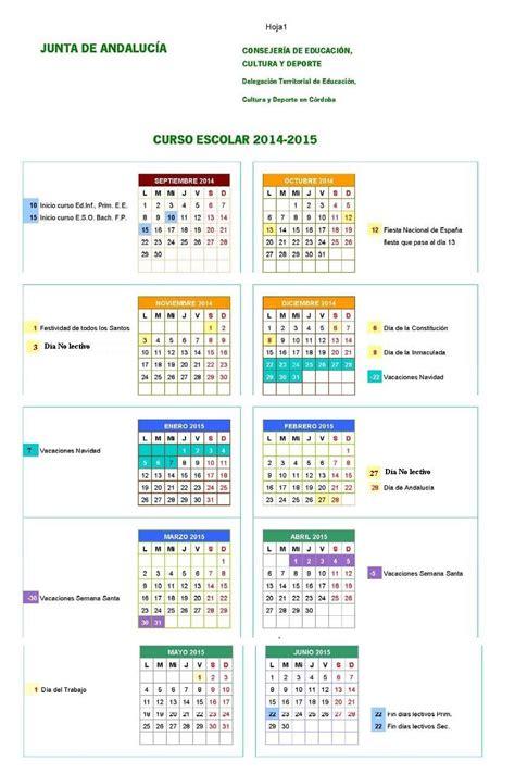 Calendario Escolar Andalucia Cordoba Fapa 193 Gora P 225 3