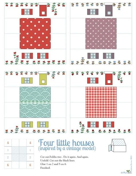 printable houses to fold really easy way to fold paper houses out of a square piece