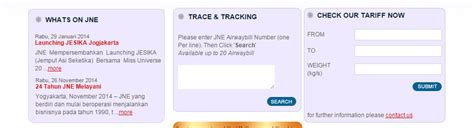 cek resi jne sms cara cek kiriman menggunakan jne aribowo net