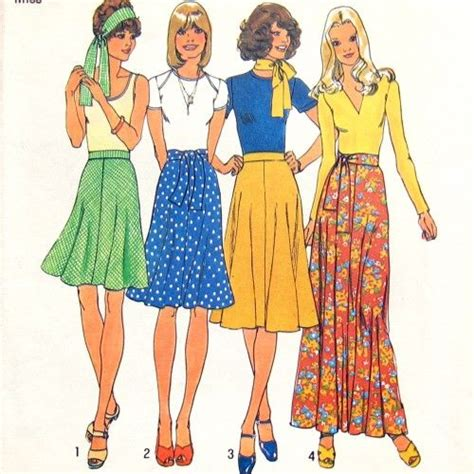 Fashion Sketches 70s by 70 S Pattern Illustrations Fashion Illustrations