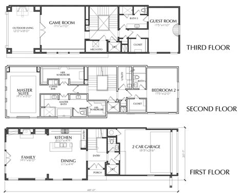 3 story townhouse floor plans 3 story dallas townhouse floor plan for sale