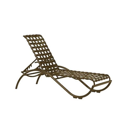 strap chaise lounge la scala crossweave strap chaise lounge with aluminum