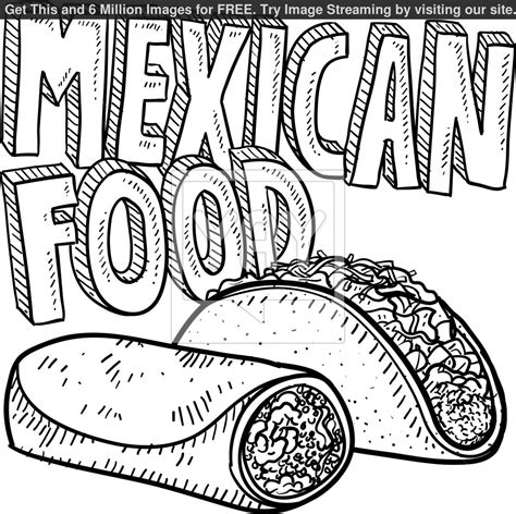 Mexican Food Coloring Pages mexican coloring pages