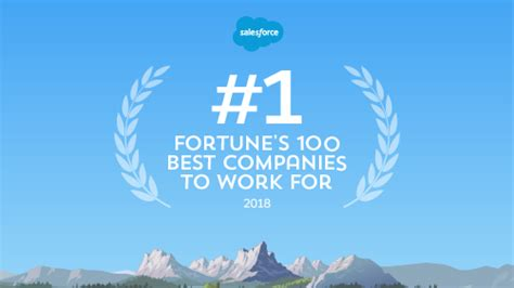 Best Company To Work For To Get An Mba by Salesforce Is 1 On Fortune S 100 Best Companies To Work