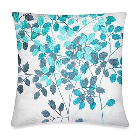 throw pillow storage kas 174 luella teal night garden square throw pillow in white
