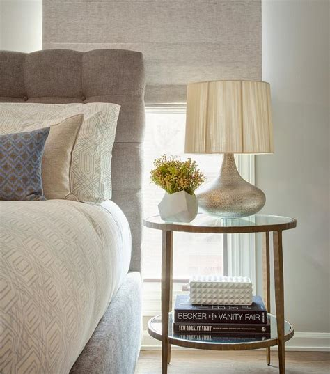 Silver Side Tables Bedroom Gray Bedside Table Design Ideas