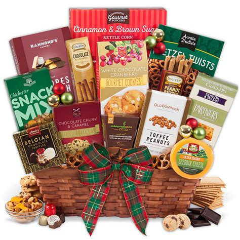 unique christmas gift basket by gourmetgiftbaskets com
