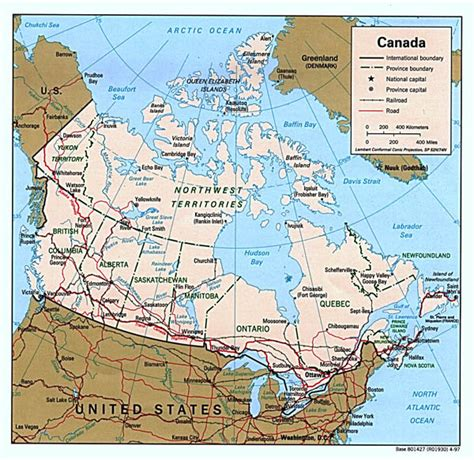 political map of canada with major cities detailed political map of canada with administrative