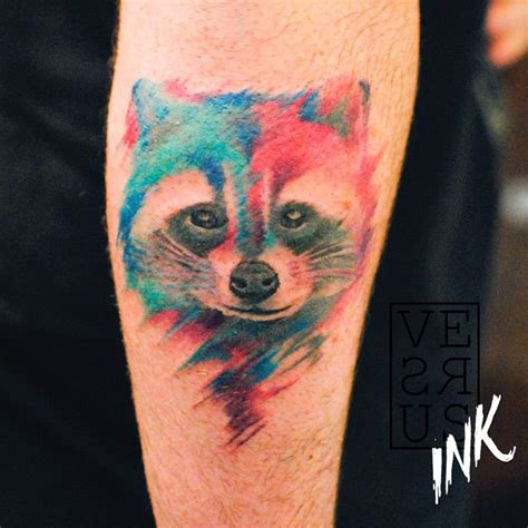 racoon tattoo watercolor raccoon best design ideas