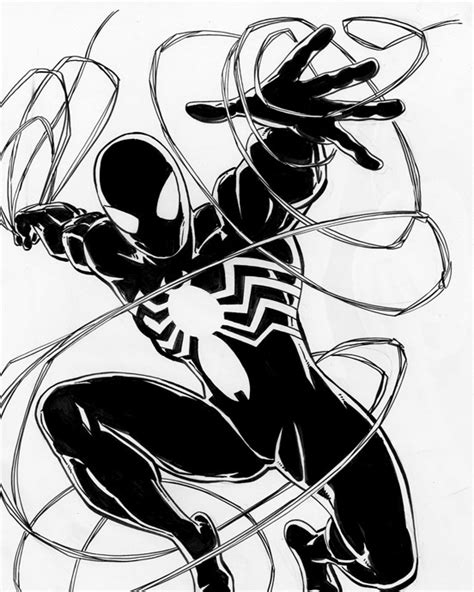evil spiderman coloring page evil spiderman drawing