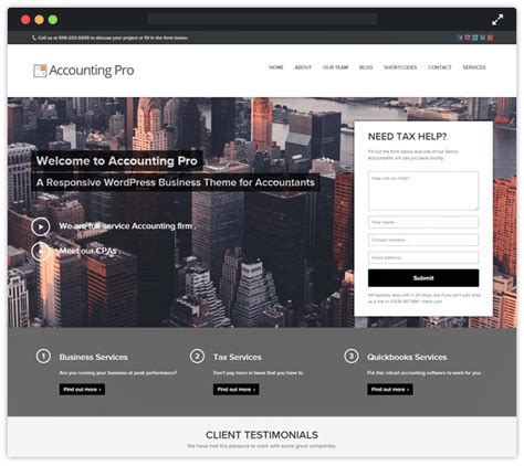 themes wordpress professional 10 best accountant wordpress themes for financial