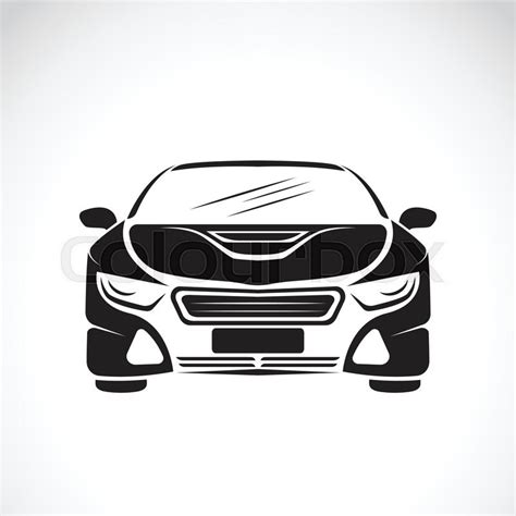 car logo black and white vector image of an car design on white background vector