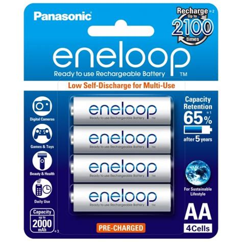 Battery Sanyo Eneloop Rechargeable4pcs 4 x eneloop rechargeable aa batteries ausbatteries