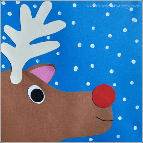 Reindeer Paper Crafts - rudolph paper craft for i crafty things