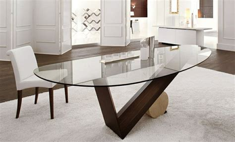 table salle a manger ovale pied central