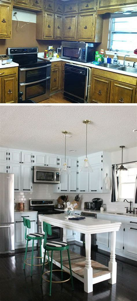 before and after 25 budget friendly kitchen makeover before and after 25 budget friendly kitchen makeover