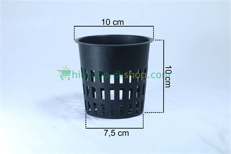 Netpot Hidroponik Putih 10 Cm jual net pot hidroponik 10 cm hitam tokobenih